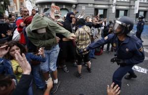 Spain Street Riot